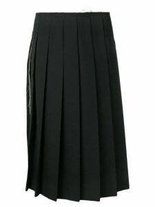 Comme Des Garçons frayed waist pleated skirt - Black