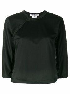 Comme Des Garçons Comme Des Garçons cropped sleeve sweatshirt - Black