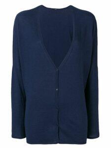 Apuntob V-neck cardigan - Blue