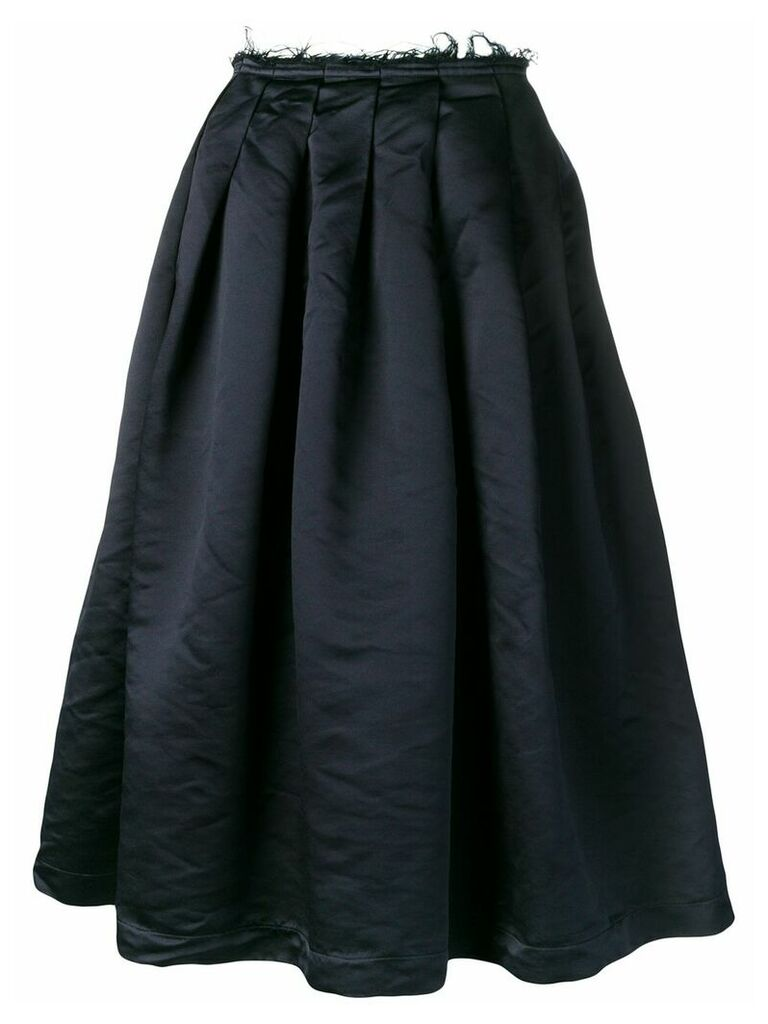Comme Des Garçons frayed waist midi skirt - Blue