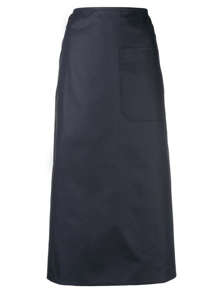 Sofie D'hoore patch pocket maxi skirt - Blue