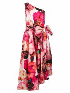 MSGM asymmetric floral print dress - Pink