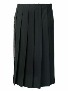 Comme Des Garçons striped pleated skirt - Blue