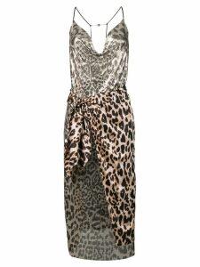 Paco Rabanne leopard print dress - Neutrals