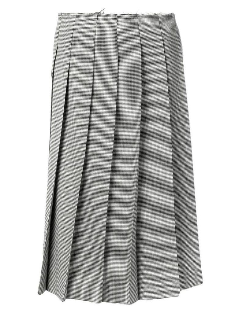 Comme Des Garçons checked pleated skirt - Grey