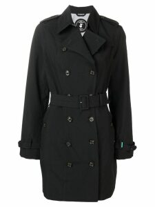 Save The Duck double breasted trench coat - Black