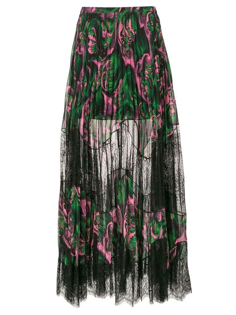 McQ Alexander McQueen sheer pleated skirt - Black