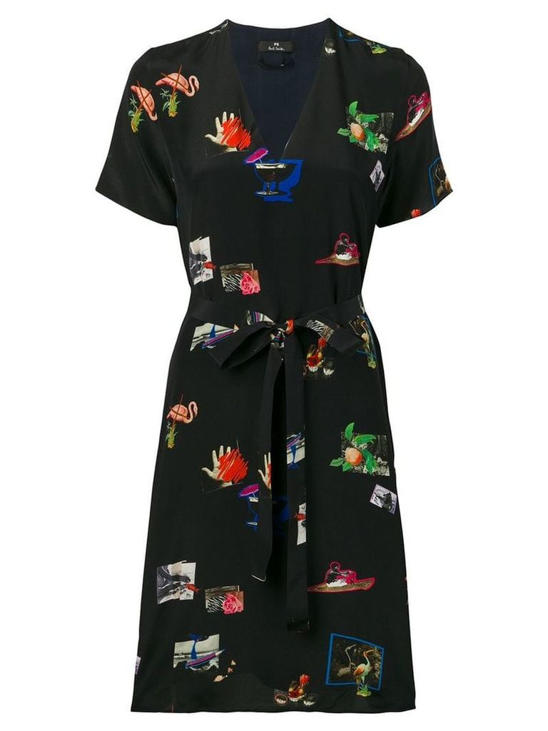 PS Paul Smith graphic print dress - Blue