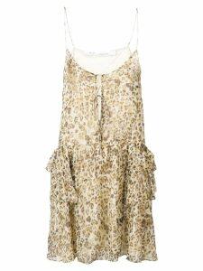 Iro ruffled leopard print dress - Neutrals