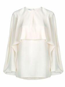Valentino Georgette silk top - Neutrals