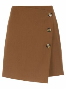 Nk buttoned mini skirt - Brown