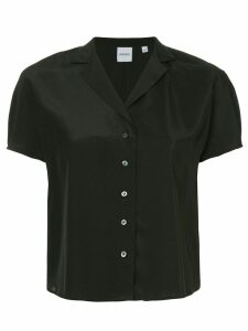 Aspesi cropped loose blouse - Black