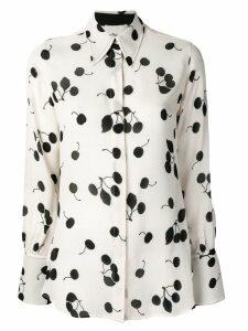 3.1 Phillip Lim Long-sleeved cerise print silk shirt - Neutrals