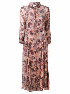 Iro floral shirt dress - Pink