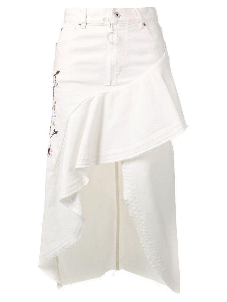 Off-White asymmetric denim skirt - Neutrals