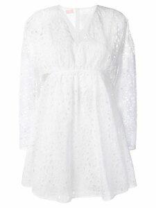 Giamba cut-out detail mini dress - White