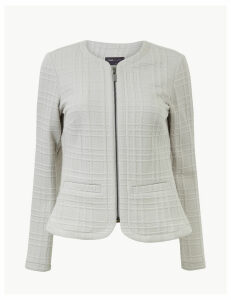 M&S Collection Textured Jersey Short Jacket