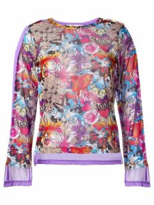 Comme Des Garçons tattoo printed sweatshirt - Purple