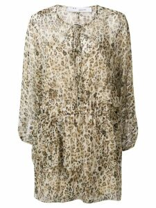 IRO long sleeved summer dress - Brown