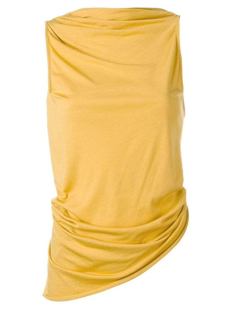 Rick Owens Lilies twisted-back top - Yellow