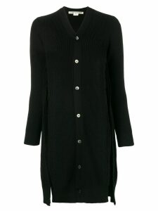 Comme Des Garçons ripped detail long cardigan - Black