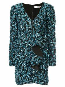 Self-Portrait sequined short dress - Blue