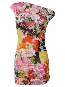 Versace floral fitted dress - Pink