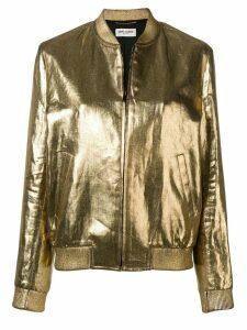 Saint Laurent metallic bomber jacket - Gold