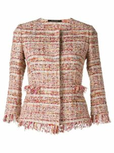 Tagliatore Milly tweed jacket - Red