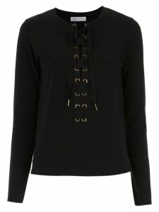 Nk lace up top - Black