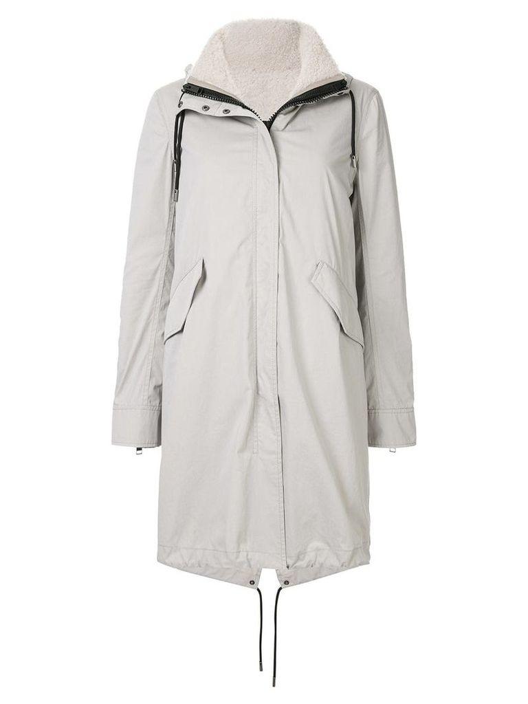 Yves Salomon Army Bachette fur lined parka - Grey