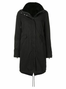 Yves Salomon Army Bachette fur lined parka - Black