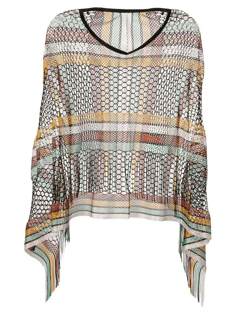 Missoni knitted poncho top - Brown