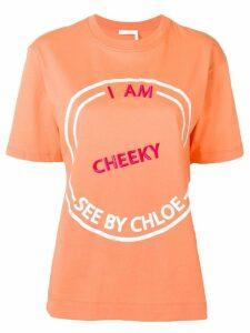 See By Chloé I Am Cheeky T-shirt - Orange