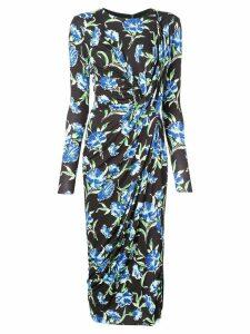 Jason Wu Collection floral print midi dress - Black