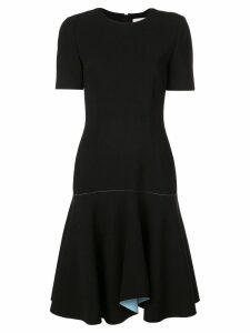 Jason Wu Collection contrast lining flared dress - Black