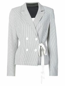 Jason Wu double-breasted striped blazer - Blue