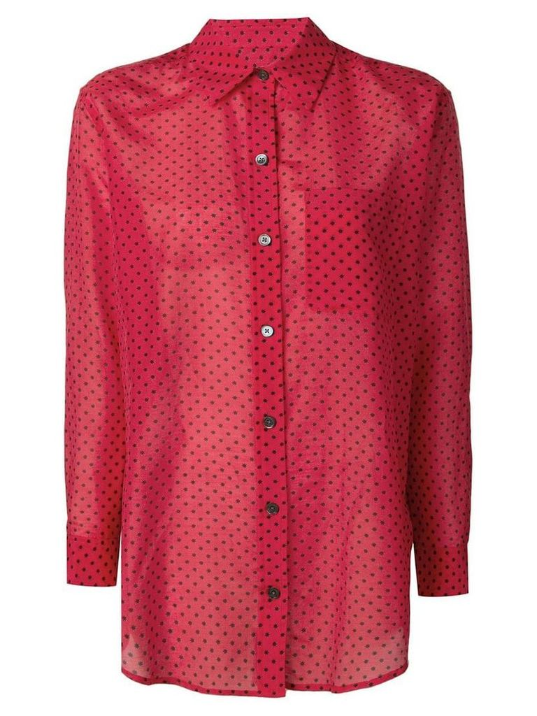 Equipment star print shirt - Red