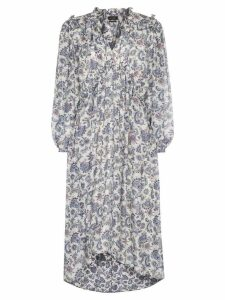 Isabel Marant Norja paisley print midi dress - Blue