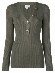 Jason Wu long-sleeve fitted sweater - Green