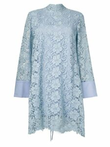 L'Autre Chose macramé lace dress - Blue