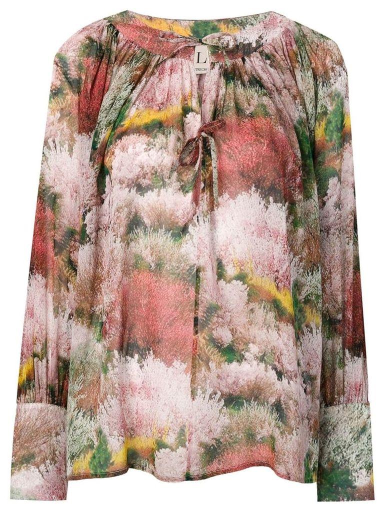 L'Autre Chose printed georgette blouse - Pink