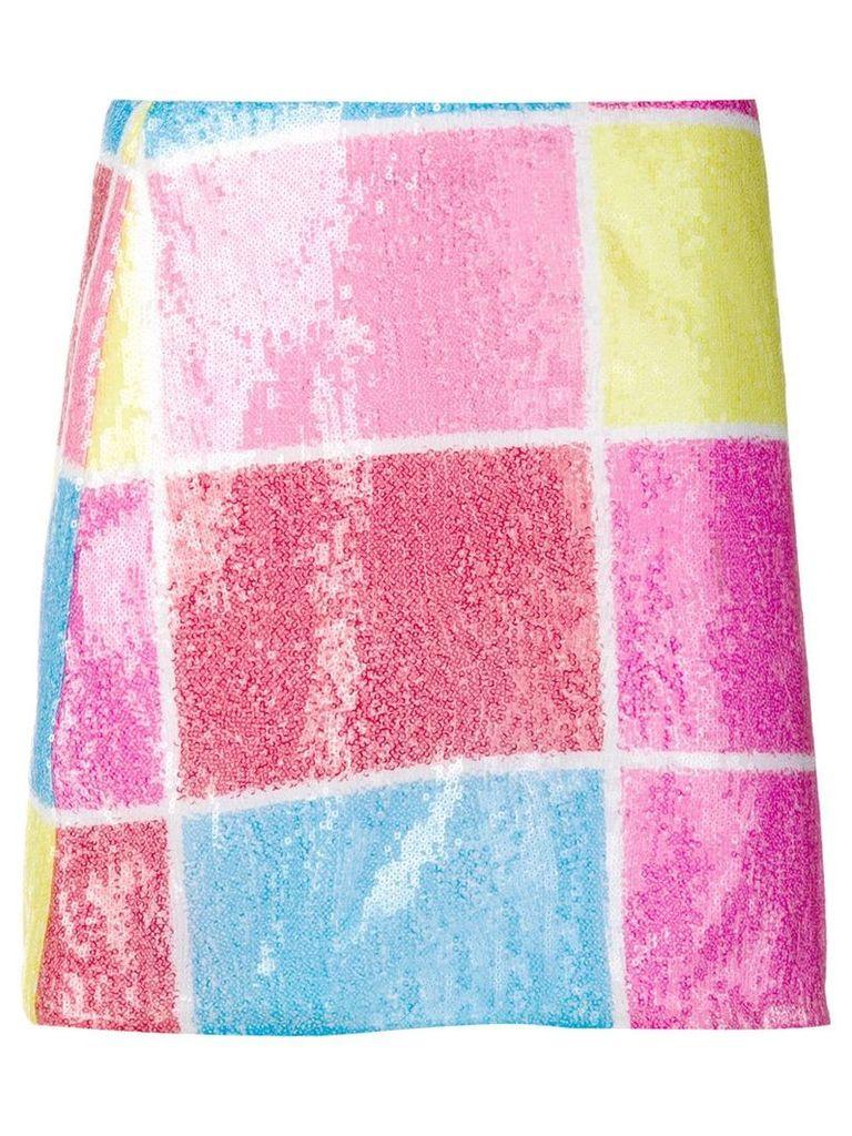 Alberta Ferretti multicoloured sequin skirt - Pink