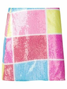 Alberta Ferretti multicoloured sequin skirt - Pink