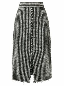 Alexander McQueen high waist boucle skirt - Black