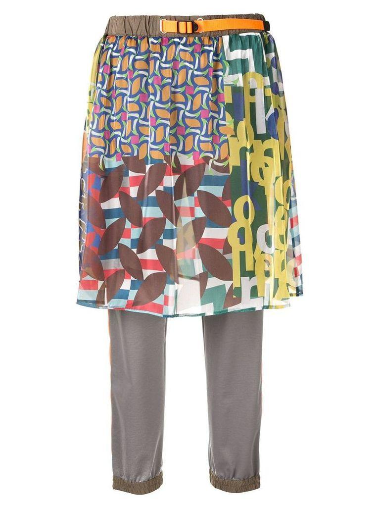 Kolor printed skirt trousers - Multicolour
