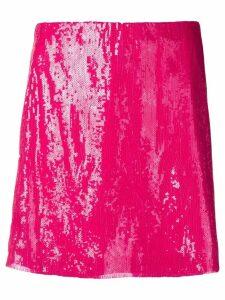 Alberta Ferretti sequin mini skirt - Pink