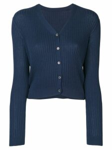 Sottomettimi ribbed knit cardigan - Blue
