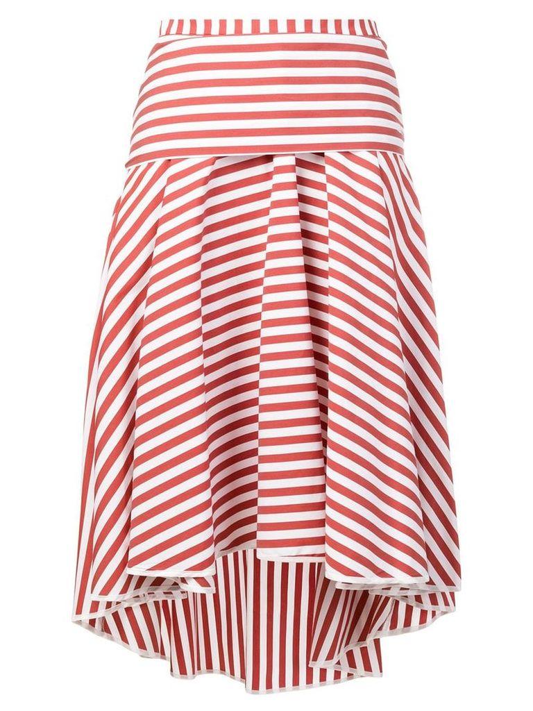 Smarteez striped midi skirt - Red