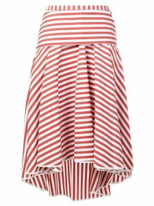 Smarteez striped midi skirt - Red